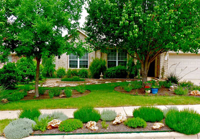 XeriScaped yard in TExas. Photo credit: Bob Beyer